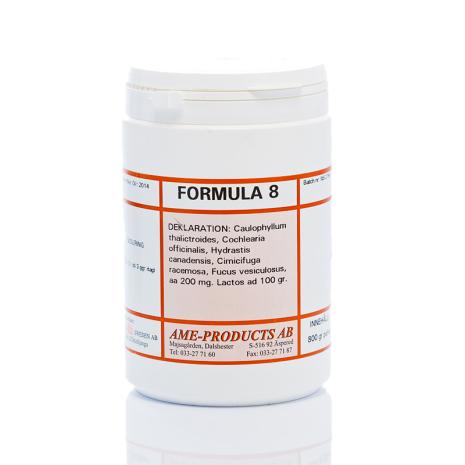 Formula 8 Allmänt njur-mag-lymf stärkande. (NML-kur)