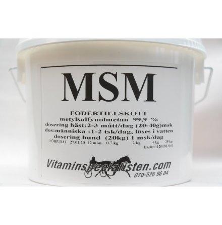 MSM Häst Bra för styva stela muskler, blodcirkulationen, prestationshöjande