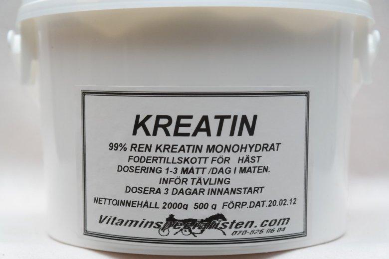 kreatin monohydrat dosering