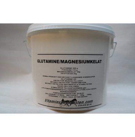 GLUTAMINE-MAGNESIUMKELAT -lugnande fodertillskott